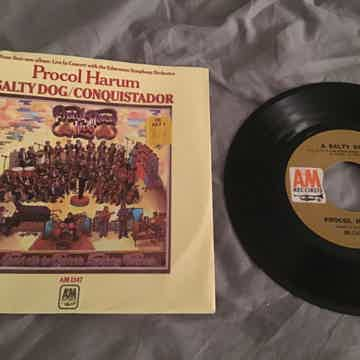 Procol Harum A Salty Dog/Conquistador 45 With Picture S...