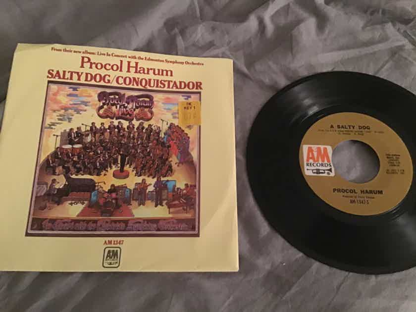 Procol Harum A Salty Dog/Conquistador 45 With Picture Sleeve