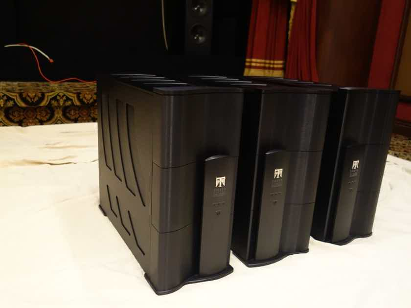 Theta Digital Citadel 1.5 Mono Block Amps Set of Three Gorgeous Factory Certified Black and Awesome!