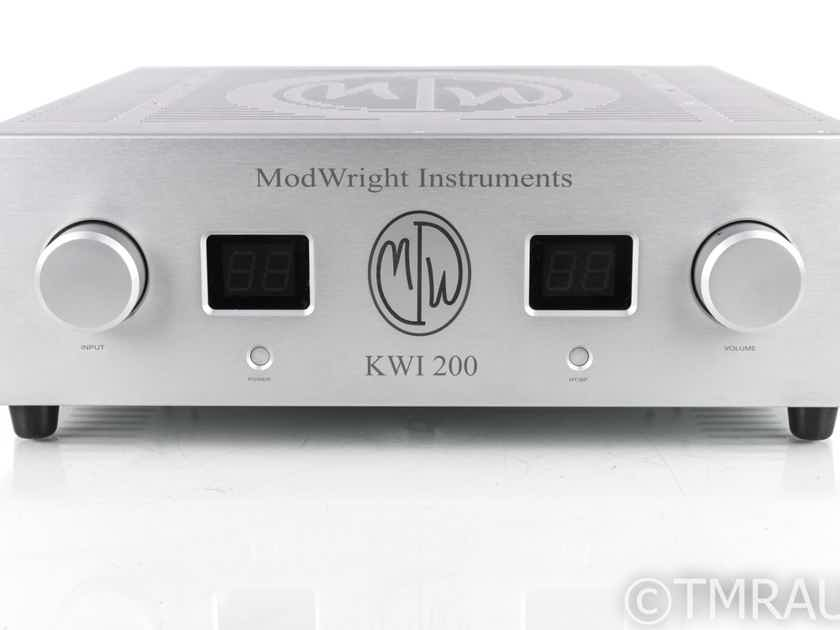 Modwright KWI-200 Stereo Integrated Amplifier; KWI200; Remote; MM Phono (20258)