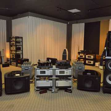 Wilson Audio Alexandria XLF Store Demonstration in black.