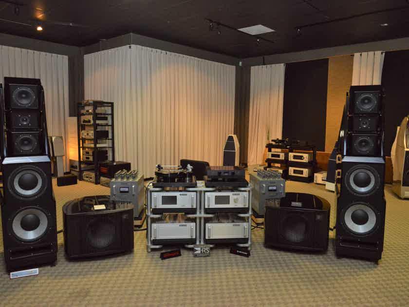 Wilson Audio Alexandria XLF Store Demonstration in black.