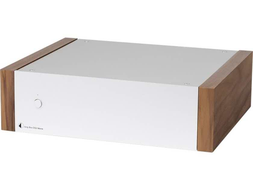 NEW Pro-Ject Audio Systems Amp Box DS2 Ultra Compact Stereo Power Amplifier SILVER WALNUT