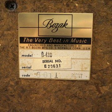 Bozak Audio Lab Concert Grand B-410