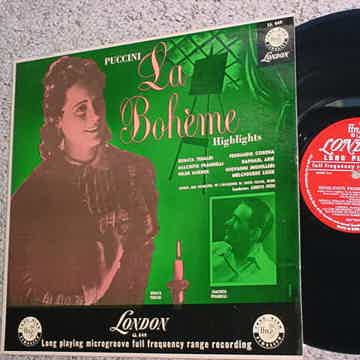 LONDON LL 649 Classical lp record Puccini La Boheme highlights Tebaldi Prandelli