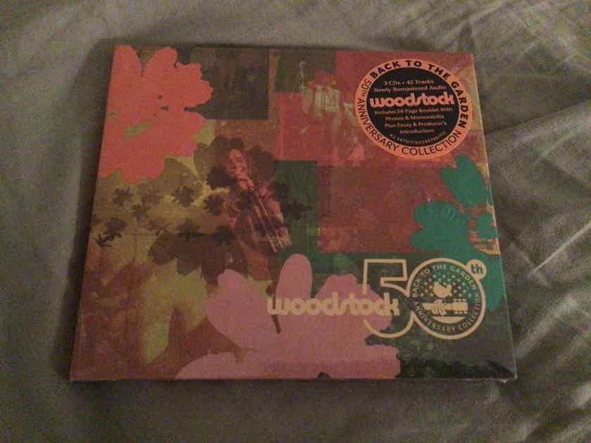Various 3 CD Set Sealed The Who Jimi Hendrix Others Woodstock 50th Anniversary Back To The Garden