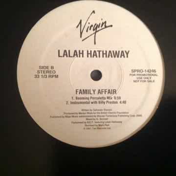 Lalah Hathaway  Family Affair Virgin Records Promo 12 I...
