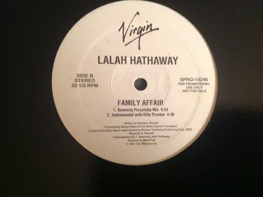 Lalah Hathaway  Family Affair Virgin Records Promo 12 Inch Sly Stone
