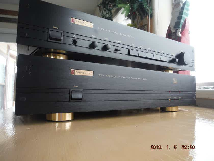 Parasound  P/HP-850 and HCA-1000A Parasound Preamplifier and High Current Power Amplifier