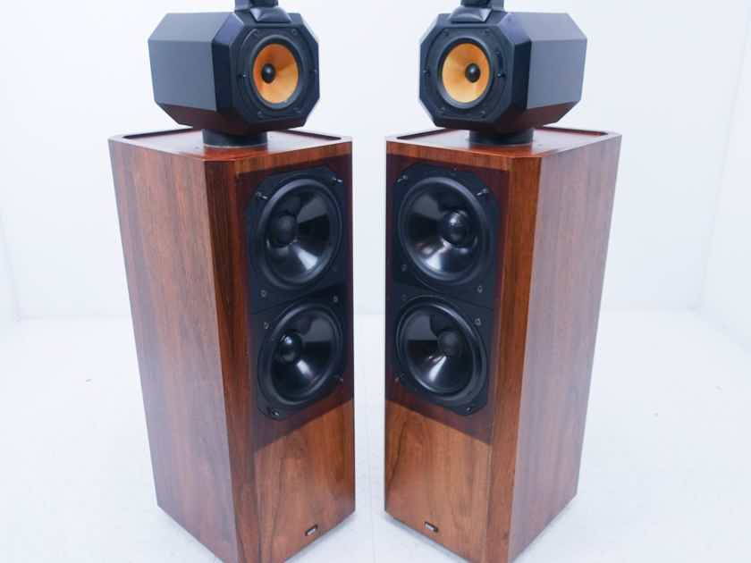 B&W Series 80 Model 802 Vintage Floorstanding Speakers Rosenut Pair (14109)