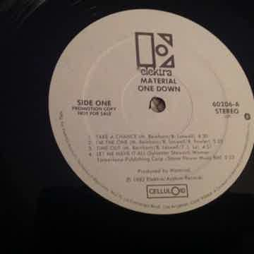 Material  One Down White Label Promo LP