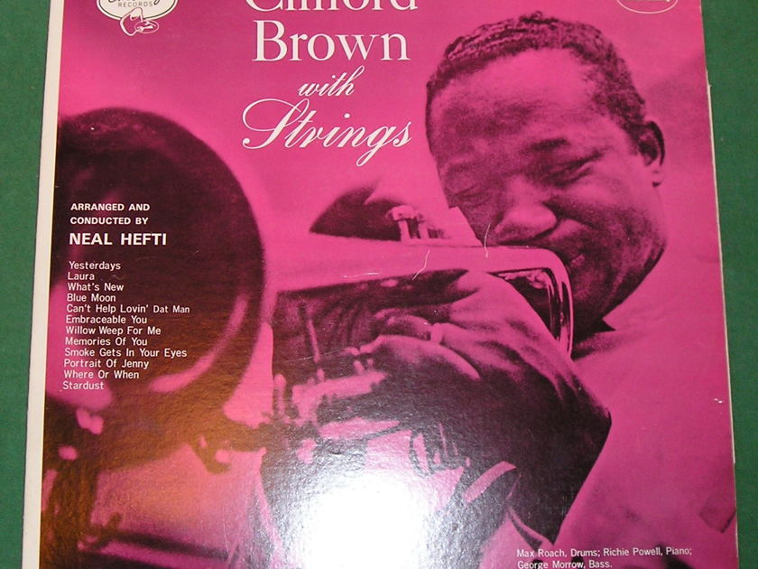 """CLIFFORD BROWN  """"WITH STRINGS"""" - 1974 MONO JAPAN PRESS * NM  9/10 *"""