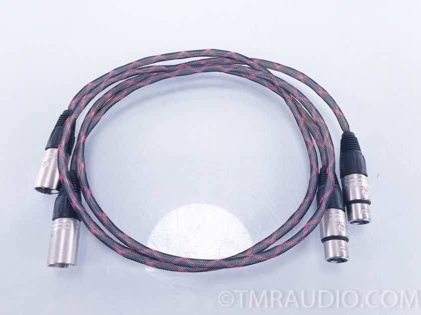 Black Mountain Cable Pinnacle Silver 1M interconnects; XLR terminations (2297)
