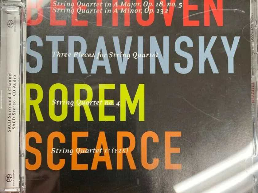 TheFry Street Quartet Beethoven, Stravinsky, Rorem - SACD DSD IsoMike Sealed