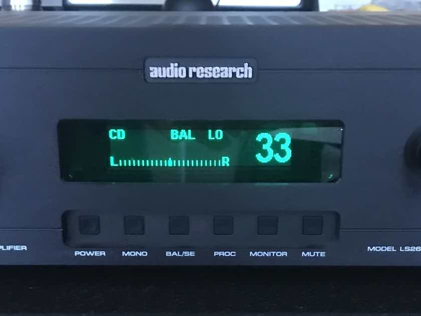 Audio Research  LS26 Tube Line Stage Preamp Black.