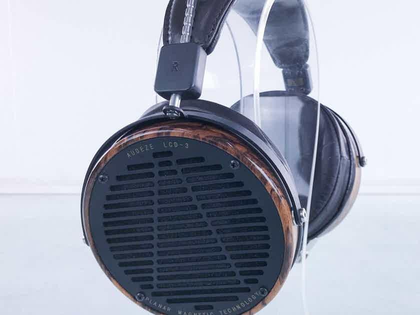 Audeze LCD-3 Planar Magnetic Headphones Zebrano Finish; Fazor Technology (15811)