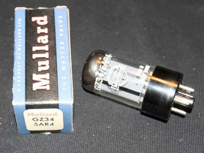 1 rare new in the box f31 coded fat base mullard shield logo gz34 / 5ar4 rectifier tube