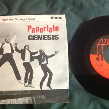 Genesis - Paperlate/You Might Recall 45 Single With Pic...