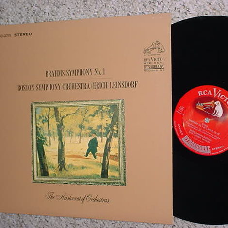 CLASSICAL RCA LSC-2711 LP Record DYNAGROOVE SHADED DOG Brahms Symphony no1