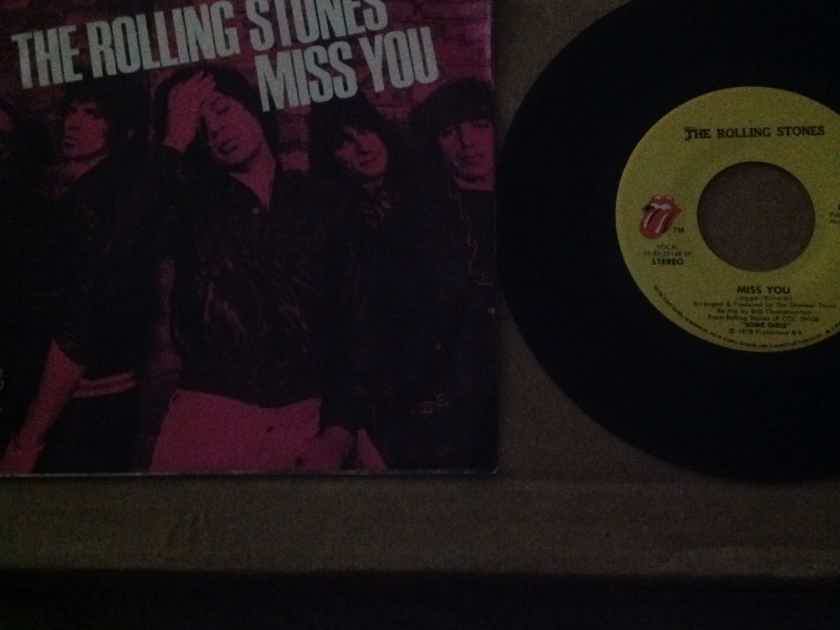 The Rolling Stones  - Miss You/Far Away Eyes Rolling Stones Records 45 With Picture Sleeve Vinyl NM