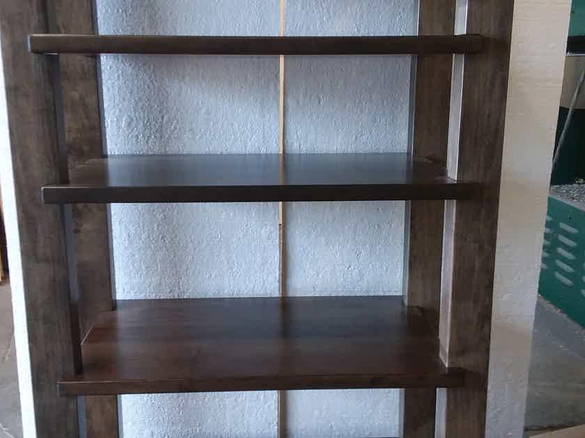 TimberNation  5 Shelf Maple Rack Dark Walnut Finish