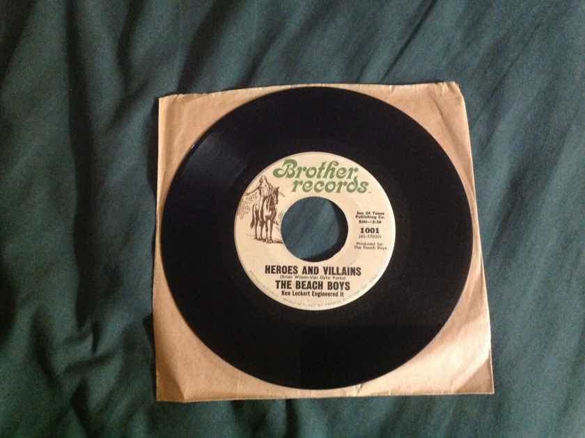 Beach Boys - Heroes And Villians/You're Welcome Brother Records 45  Vinyl Single NM