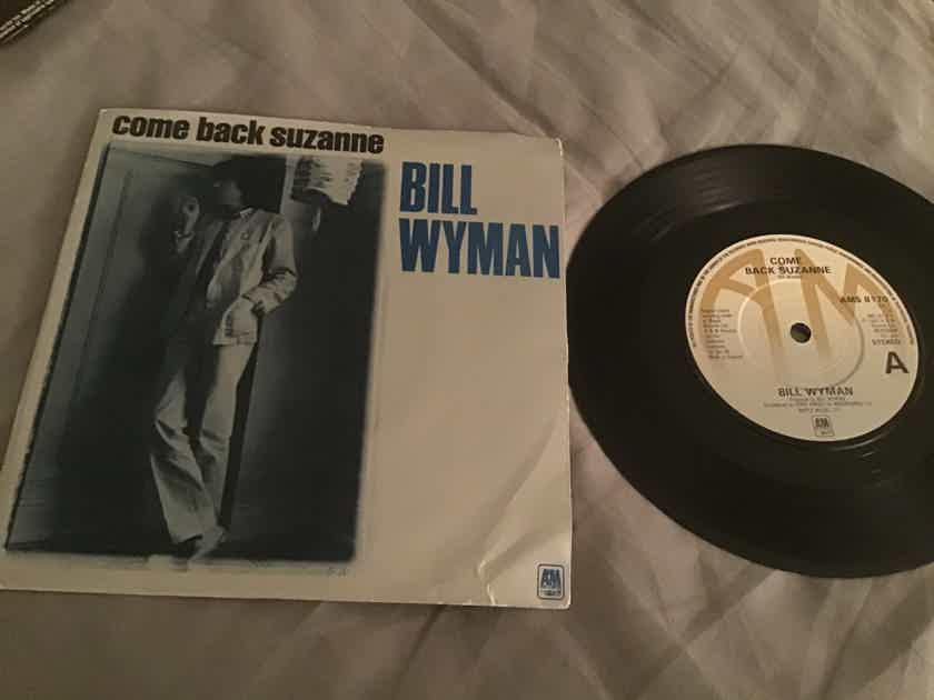 Bill Wyman Come Back Suzanne UK 45 With Picture Sleeve Vinyl NM