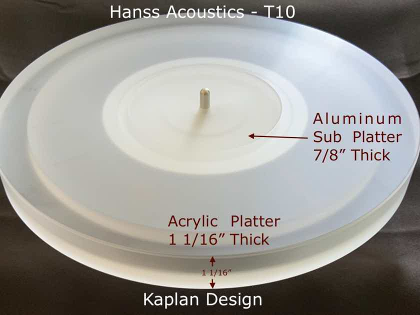 Hanss Acoustics T-10: NEW, Does Not Include Tonearm, Rega 3 position Arm-Mount, Dustcover - NIB, Warranty