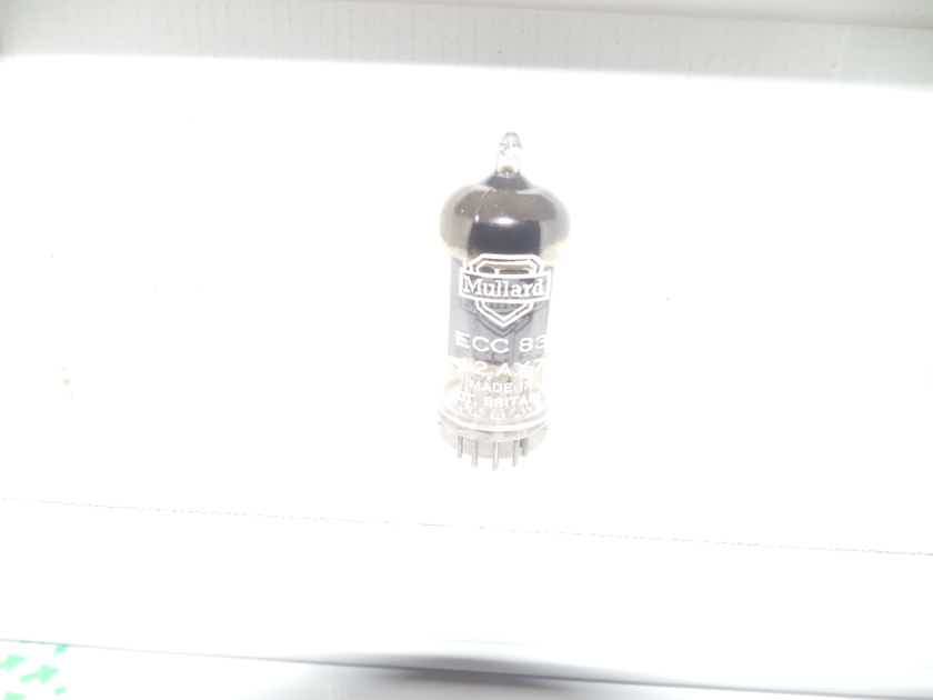 2 rare  1956 and 1957 mullard 2 supported square getter 12ax7 tubes