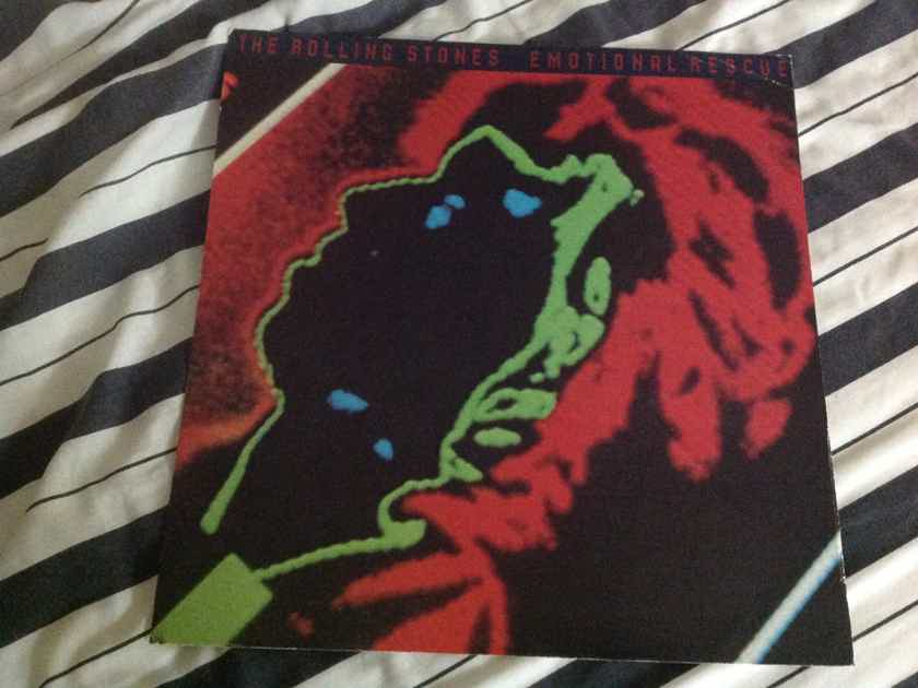 The Rolling Stones Keith Richards Emotional Rescue Promo LP Flat
