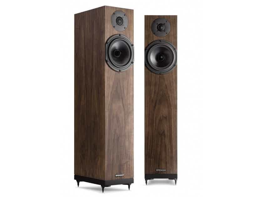 Spendor A4 Floorstanding Speakers; Natural Walnut Pair (New w/ Warranty) (28867)