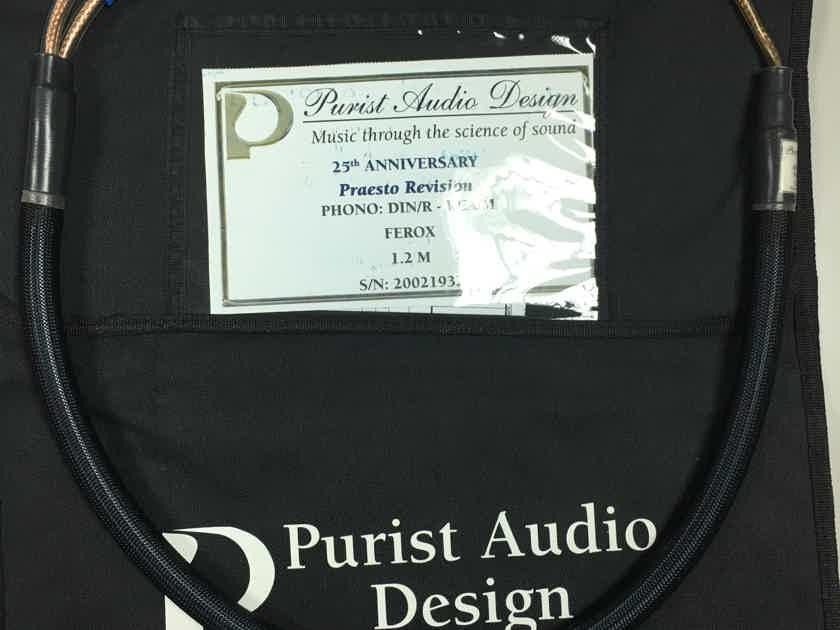 Purist Audio Design 25th Anniversary DIN to RCA Phono Cable