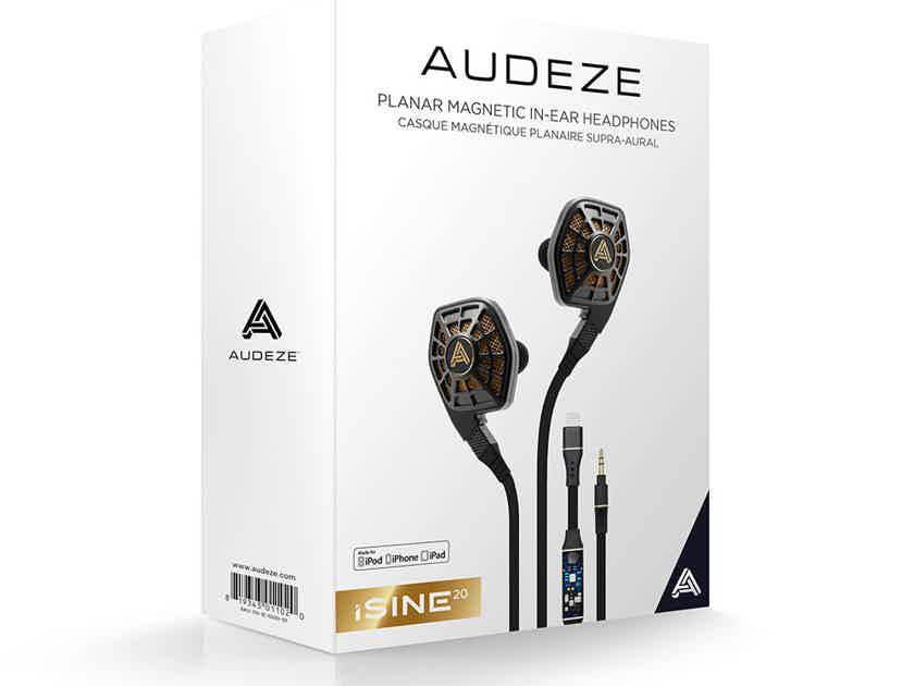 Audeze iSINE20 Planar Magnetic Manufacturer Refurbished Sealed Warranty