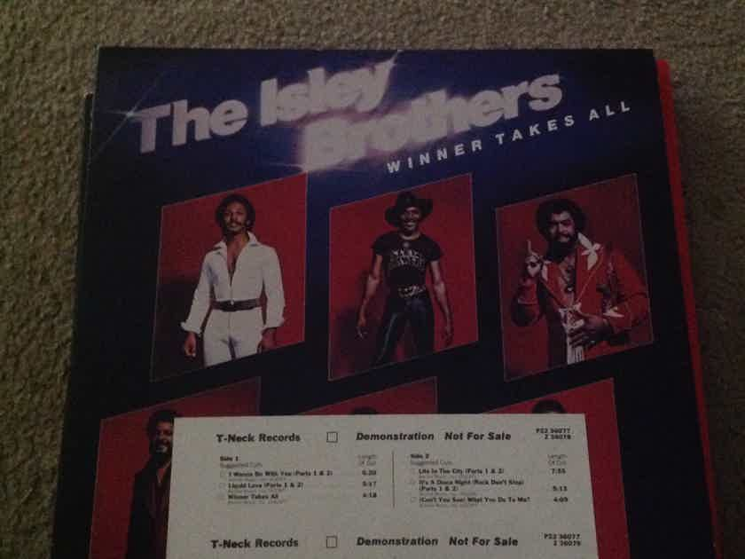 The Isley Brothers - Winner Takes All 2LP White Label Promo LP NM T-Neck Records Vinyl NM