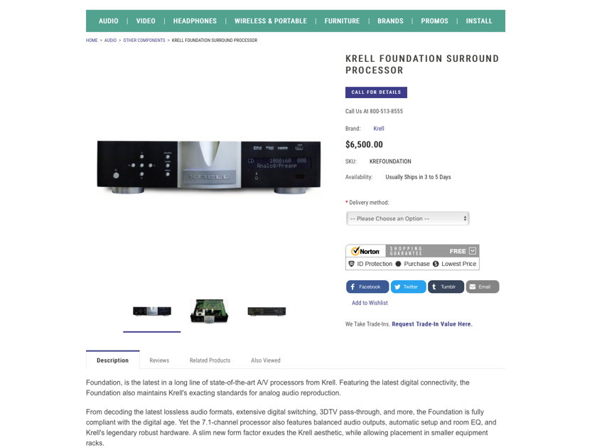 Krell Foundation Surround Processor