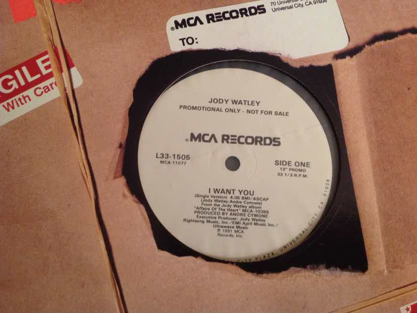 Jody Watley I Want You MCA Records Promo 12 Inch Single