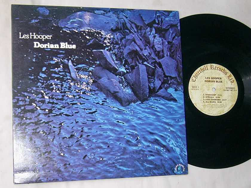 LES HOOPER - DORIAN BLUE  - - RARE ORIG 1977 JAZZ LP - CHURCHILL PRIVATE LABEL