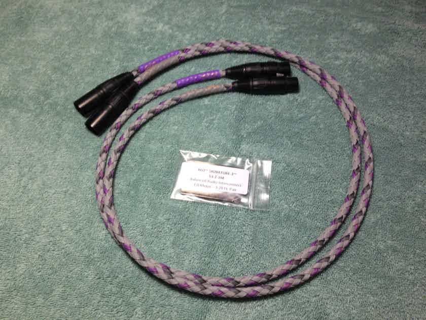 XLO Electric Signature 3 1m Balanced Cable Pair