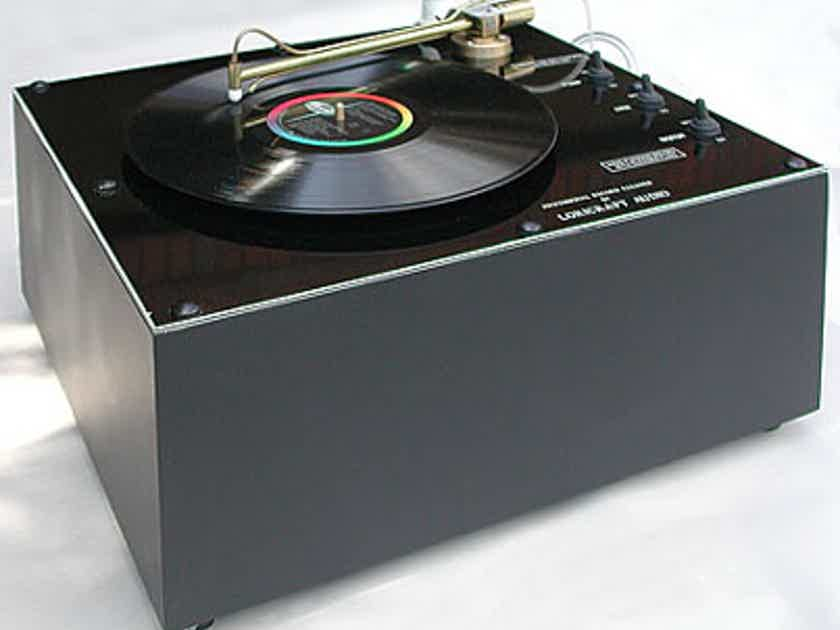 Loricarft-Garrard PRC-4 Record cleaning machine w/optional dust cover. NEW