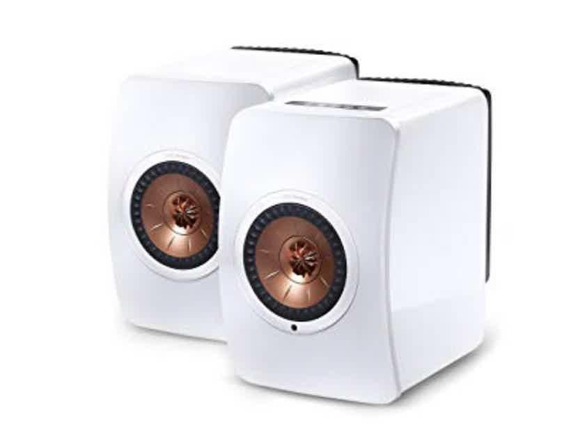 KEF LS50 Wireless Active Bookshelf Speakers, NEW!