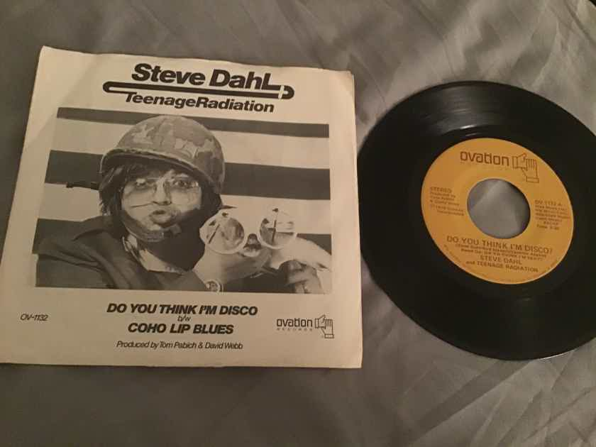 Steve Dahl Do You Think I'm Disco 45 With Picture Sleeve Vinyl NM