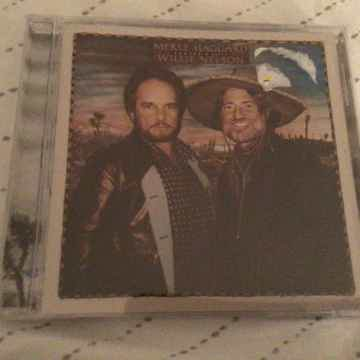 Merle Haggard Willie Nelson Sealed Compact Disc  Poncho...