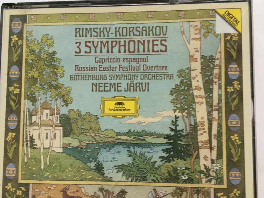Rimsky Korsakov Neeme Jarvi  3 symphonies Cd set Deutsche Grammophon 1988