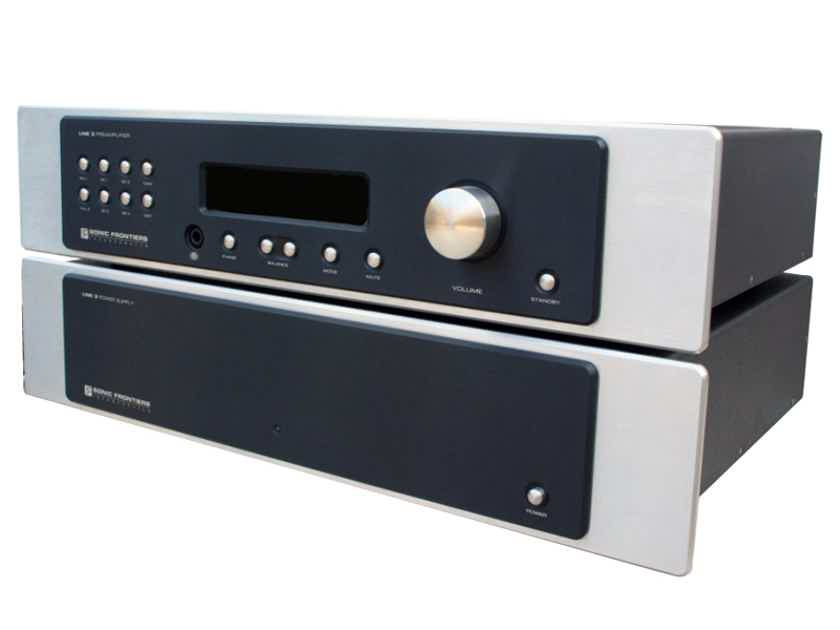 SONIC FRONTIERS LINE-3 Preamp (Black): w/Platinum Plus Mods + Tube Upgrades; 1 Yr. Warranty; 50% Off