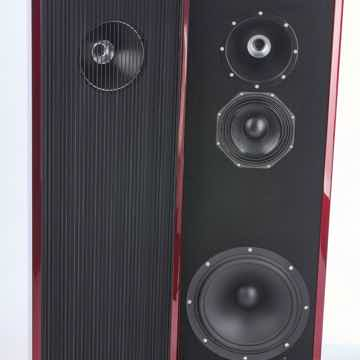 UBIQ Audio Model One Duelund+ Tower Speakers (Red Lacqu...