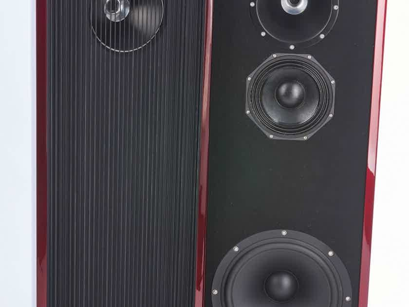 UBIQ Audio Model One Duelund+ Tower Speakers (Red Lacquer): MINT Demos; Full Warranty; 69% Off