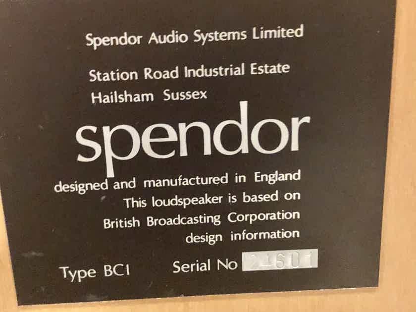 Spendor  BC1 loudspeakers