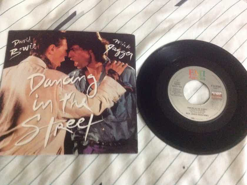 David Bowie Mick Jagger - Dancing In The Street Double Sided Stereo Promo 45 with Picture Sleeve EMI America