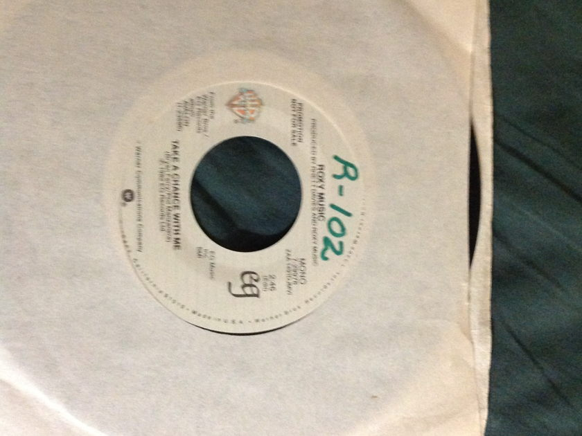 Roxy Music - Take A Chance With Me Promo 45 Mono/Stereo
