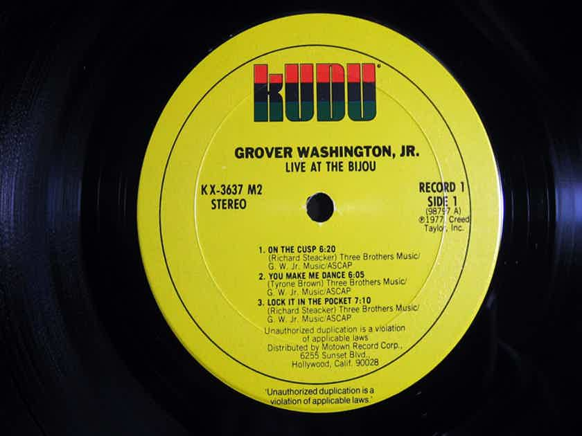 Grover Washington, Jr. - Live At The Bijou - MASTERDISK Mastered 977  Kudu ‎– KUX 3637M2